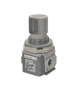 """UNIVER Regolatore di pressione ½"""" taglia 1 con manometro integrato 0-12bar"""
