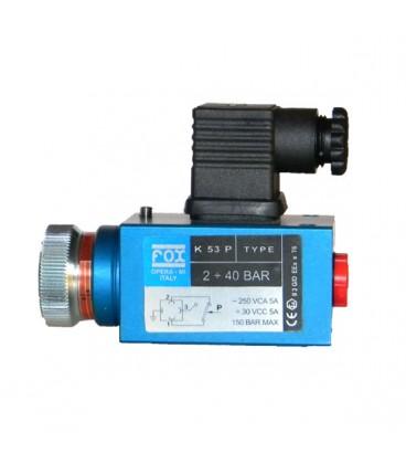Pressostato K 57 P 30-300bar 250 VCA FOX