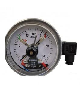 "Manometro elettrico Ø100 0 ÷ 400bar - 1/2""Gas"