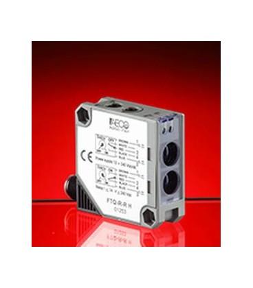 Sensore Fotoelettrico Compatto 50x50x18 Riflessione con Catarifrangente Uscita Relè 12/240Vcc/ca AECO