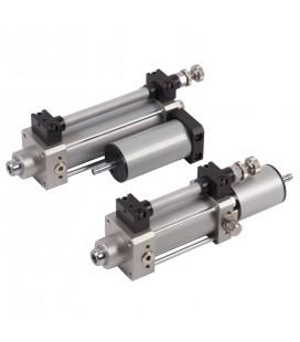 cilindro idraulico regolabile di velocità Ø40 corsa 50 KPM